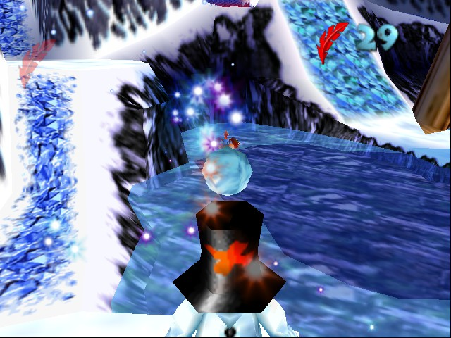 Banjo-Kazooie - ironic snowmen throwing snowballs - User Screenshot